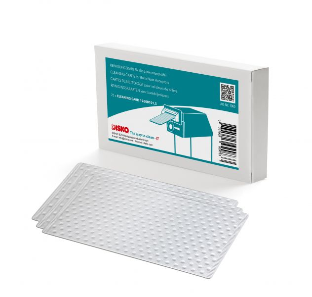 DISKO pre-moisten cleaning cards (without chemical solvents)