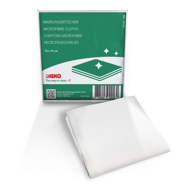 Microfiber cleaning cloths 15 x 15 cm, for daily, dry dusting