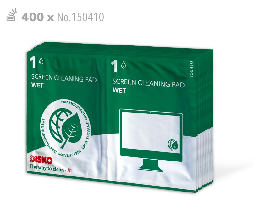 Cleaning cloths for flat screens - without chemical solvents