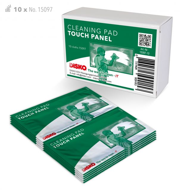 Cleaning pads for touch panels and large screens with a diagonal between 80 and 250 cm (no. 15097-10)