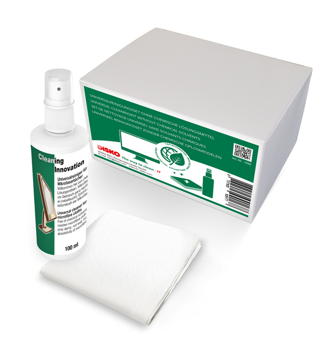 Universal cleaning set for all surfaces – without any chemical solvents